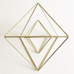 Layered Brass Geometric Octahedron Himmeli Mobile or Air Plant Holder - Make Your Own or Order from Calculated Crafts calculatedcrafts.etsy.com