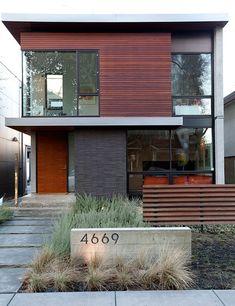 modern wood, stone, and metal