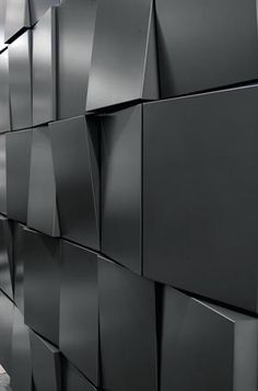 The Tapered Series architectural metal wall panel system from Dri-Design allows each panel face to be angled from top to bottom, bottom to top, left to right, or right to left. Random and regimented patterns such as waves, bonds, running bonds, and shingles can be created. The rainscreen system is suited for accent areas or entire façades. Materials available include painted aluminum, zinc, copper, and stainless steel. ¢ dri-design.com