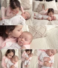 New baby and older sibling photos