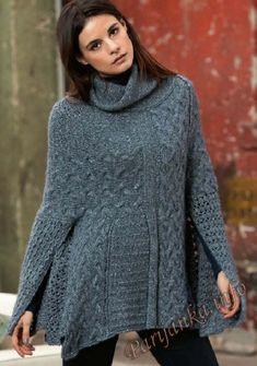 Пуловер-пончо (ж) 24*225 FAM №4749