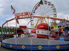 Tilt-A-Whirl is one of the best-known flat rides, designed for commercial use at amusement parks, fairs and carnivals in which it is commonly found[1]. The rides are manufactured by Sellner Manufacturing of Faribault, Minnesota. The ride is commonly known for making riders experience nausea.