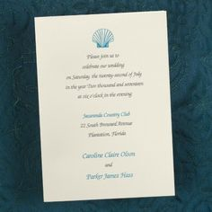 Traditional Grace - Ecru Invitation shown in Slate and Marine, includes double envelopes. $72.75 per 100 after discount! | Quaint Wedding Stationery & Accessories