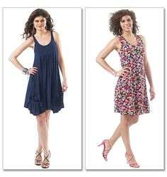 M6347    Misses' Dresses In 2 Lengths  Our Price: $11.37    I like the simplest model (with know gathering at the bottom)
