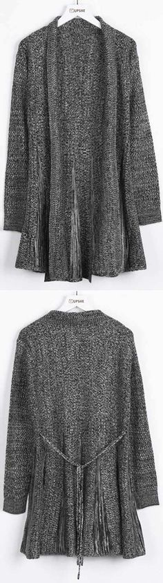 Only $21.99 for this Sweater cardigan& free shipping~ Easy Return+Refund! You have just entered cardigan heaven! This Open front long sweater cardigan is totally cozy and warm! Cupshe.com will be sure to turn heads!