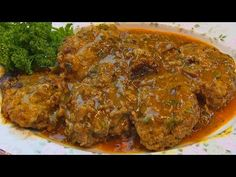 Betty demonstrates how to make Sumptuous Salisbury Steak. This entree may be used for a casual or formal meal. Sumptuous Salisbury Steak 1 ½ pounds ground be...