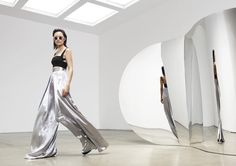 @solacelondon Stellis Wide-Leg Trouser in Silver are the ultimate high-waisted silver trousers    http://www.nastygal.com/brands-solace-london/solace-stellis-wideleg-trouser--silver?utm_source=pinterest&utm_medium=smm&utm_content=brand_crush&utm_campaign=pinterest_nastygal  Photo Credit: http://www.solacelondon.com/lookbook/index/lookbook/lookbook_id/1/