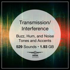 The Transmission/Interference sound fx library is a collection of noisy, buzzing drones and tones, and accents and hits. 529 sound clips, gigabytes of audio Sound Clips, Sound Design, Sound Effects, Drones, Libraries, Communication, Audio, Collection, Library Room