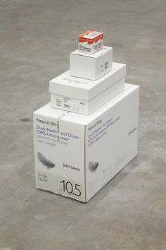 Martin Creed: Work No. 878 2008 Boxes 27 x 21 x 10.5 in / 68 x 53 x 26 cm http://martincreed.com/site/works/work-no-878