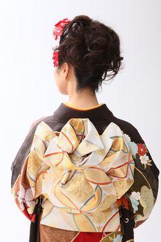 #成人式帯結び/kimono obimusubi