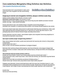 Caradailku blogspot com cara sederhana mengetahui blog dofollow dan nofollow 1