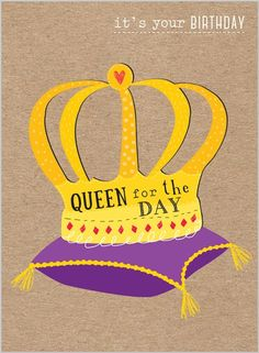 Everyday Ranges » M1510 » Be A Queen... - Clare Maddicott Publications - Greeting cards, gift wrap & stationery