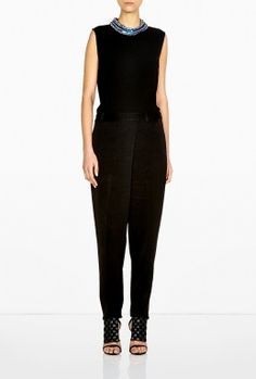 Embellished Collar Silk Jumpsuit by 3.1 Phillip Lim