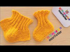 İki şiş ile yeni doğan bebek patik modeli yapımı / Bebek bot patik modelleri / Yeni patik örnekleri - YouTube