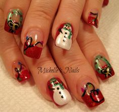 My pretty Christmas nails