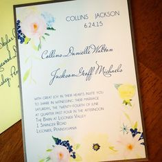 Pastel Watercolor Floral Wedding Invitation Suite Deposit Listing by www.elevenelevenpixel.com
