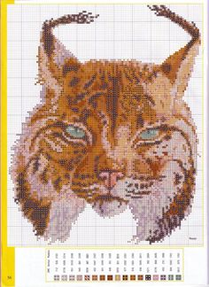 CROSS STITCH CHART BOBCAT # 2