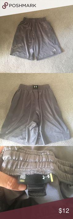 Men's under armor loose fit shorts Gray athletic shorts Under Armour Shorts Athletic