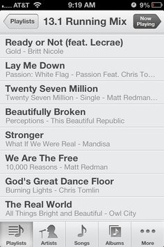 I don't know this person but I love their playlist!!  I have most of these songs already downloaded on my iPod. I never thought of putting them as a running playlist