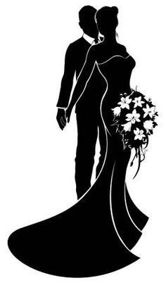 Bride and Groom Silhouette Wedding Concept - Millions of Creative Stock Photos, Vectors, Video Bride And Groom Silhouette, Couple Silhouette, Wedding Silhouette, Silhouette Art, Wedding Favours, Wedding Cards, Couple Sketch, Groom Style, Couple Pictures