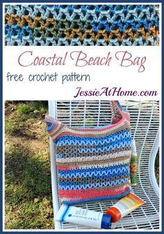 Coastal Beach Bag free crochet pattern by Jessie At Home