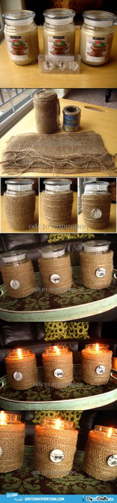 Candle Jar Makeover |   Great idea for teacher gifts
