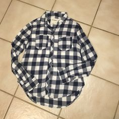 Abercrombie kids flannel Super cute Abercrombie kids flannel, used but still wearable. Sadly selling because its too small Abercrombie & Fitch Tops Button Down Shirts