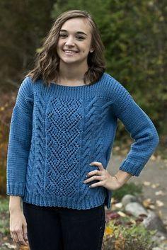 Ravelry: Mixed Stitch Pullover pattern by Deborah Helmke