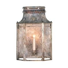 Zinc Wall Lantern. Item # 11-02196-12-01  Dimensions: 12 W X 7.5 D X 18 H Retail price: $4,220