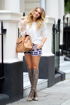 Forever21 sweater and shorts / Joie boots / Mulberry bag  Http://www.mungolife.fi