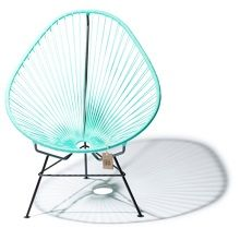 Fair Furniture Acapulco Stoel 75 cm - Licht Turquoise