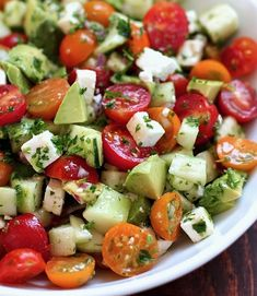 Salade healthy : Salade fraîcheur – Best for You Salade Healthy, Healthy Soup, Healthy Salads, Healthy Cooking, Mama Cooking, Cucumber Avocado Salad, Caprese Salad, Gourmet Recipes, Healthy Recipes