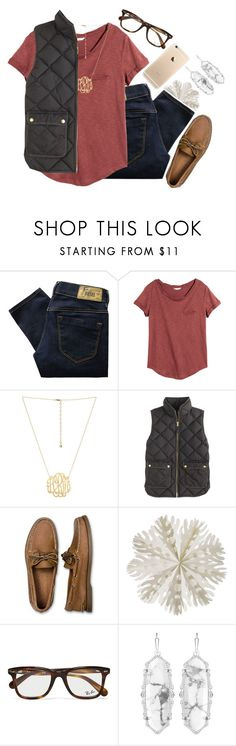 """I can't help falling in love with you"" by so-preppy ❤ liked on Polyvore featuring Diesel, H&M, J.Crew, Sperry, Dot & Bo, Ray-Ban and Kendra Scott"