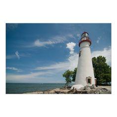 Customizable #Blue #Down#2#Earth #Lake#Erie #Lakes #Landmark #Landscape #Light #Lighthouse #Marblehead #Michael#Shake #Ohio #Scenic #Sky Marblehead Lighthouse  Print available WorldWide on http://bit.ly/2gpGfxX