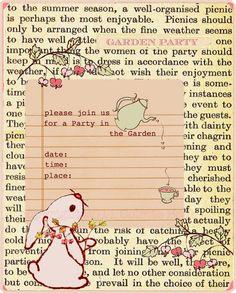 garden party bunny invitation