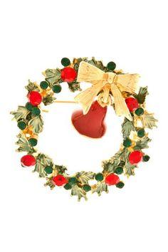 Christmas Wreath Brooch Arras Creations http://www.amazon.com/dp/B00GONZL4W/ref=cm_sw_r_pi_dp_Zt9Cub06QA8A7