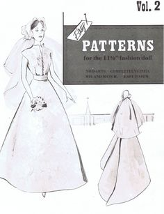 Vintage 1950s Barbie bridal and honeymoon sewing  E PATTERN. $3.00, via Etsy.