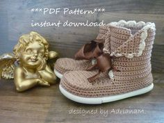 Outdoor crochet boots for kids  PDF Pattern by magic4kids on Etsy, $5.90