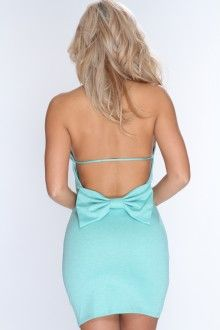 Seafoam Sleeveless Mock Neck Sexy Clubwear Dress