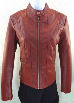 """""""Baccini"""" Faux Leather Wine Jacket – Mustang Sally's"""