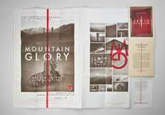 Graphics for Mountain Glory - A Theatre Project to Alp Stierva by Mathias Balzer and Markus Gerber