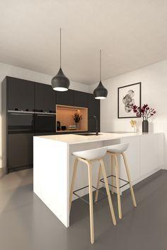 Kitchen Room Design, Ikea Kitchen, Modern Kitchen Design, Kitchen Interior, Kitchen Decor, Kitchen Cabinets, Black Kitchens, Home Kitchens, Kitchen Rules