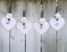 Woodland Wedding / Wedding Clothespin by CarolesWeddingWhimsy, $14.99, set of 12 with Free Shipping, Forest Green and Ivory Rustic Wedding Clothespin Magnet Place Card Holder/Wedding Favor  https://www.etsy.com/shop/CarolesWeddingWhimsy https://www.facebook.com/CarolesWeddingWhimsy