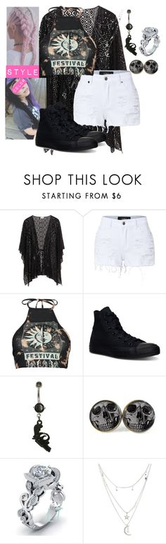 """""""Coachella date with my love"""" by shaya-bvb-4-life ❤ liked on Polyvore featuring LE3NO, Boohoo, Converse and Charlotte Russe"""