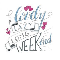 - Lovely lazy long weekend - #dutchlettering #dutchletteringchallenge #december #handlettering #handletteren #handmade #scripting #brushscripting #stiften #ipadpro #procreate #procreateapp