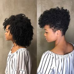 awesome Photo transitioning hairstyles in 2020 top 2020 Enviable Natural Hairstyles fo. Short Curly Hair Black, Short Curly Haircuts, Curly Hair Cuts, Curly Hair Styles, Tapered Natural Hair Cut, Natural Hair Short Cuts, Short Hair Cuts, Natural Hair Styles, Transitioning Hairstyles