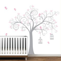 Cherry Blossom Tree DecalNursery Wall Decals Vinyl by Modernwalls