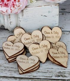 Custom Rustic Wedding Favors Wood Heart Magnets Set of 50 (item use as save the dates Rustic Wedding Favors, Wedding Favors For Guests, Diy Wedding, Fall Wedding, Wedding Gifts, Dream Wedding, Wedding Ideas, Wedding Table, Wedding Dinner