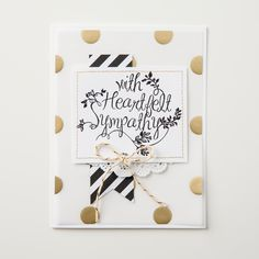 We just love this card made with the lovely new stamp set, Heartfelt Sympathy.  It's sure to cheer anyone up who's feeling down.