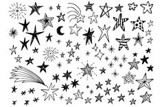 Find Hand Drawn Doodle Stars Vector Collection stock images in HD and millions of other royalty-free stock photos, illustrations and vectors in the Shutterstock collection. Star Doodle, Doodle Art, Small Drawings, Doodle Drawings, Rockers, Journal Fonts, Journal Ideas, Funny Doodles, Star Images
